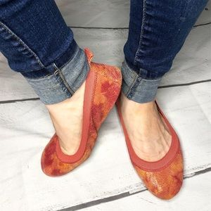 Yosi Samra Foldable, Orange Flats